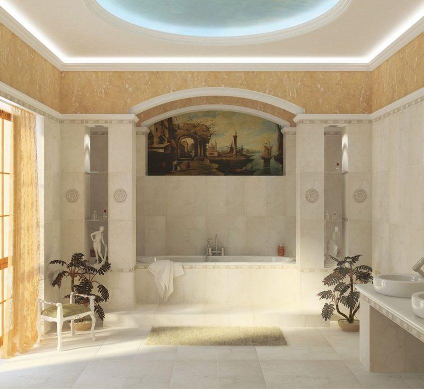 Сочетание ярких цветов в кафельной плитке onda привнесет изюминку в интерьер ванной комнаты