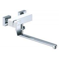 Смеситель WasserKRAFT Aller White для ванны/умывальника с душем (лейка+шланг+держатель)