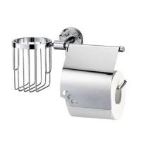 Держатель WasserKRAFT Isen для туалетной бумаги с крышкой и освежителя