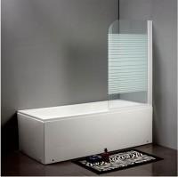 Стеклянная шторка на ванну D-16  140x80