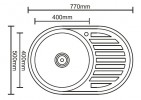 Мойка для кухни Ledeme L87750 / L67750 /  L77750 77x50