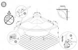 Ванна акриловая Sanplast WS/CL 125x125