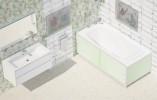 Пластиковый экран под ванну Метакам Ультралегкий 1.7