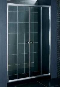 Стеклянная шторка на ванну DS-257-180  180x150